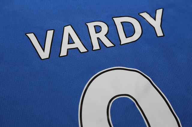 Jamie Vardy Number 9 shirt. Image by Charnsitr (via Shutterstock).