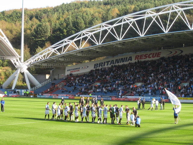 John Smiths Stadium, Huddersfield Town's home. Image by Peter Turner, 2011 (Creative Commons License: Attribution - Some Rights Reserved).