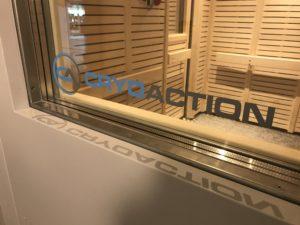 CryoAction logo on window