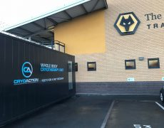 Wolverhampton FC Cryotherapy chamber